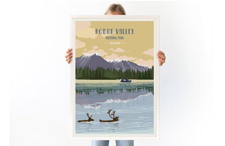 Kobuk Valley National Park, Alaska, National Park Poster, Unframed Map World Vibe Studio 8X10