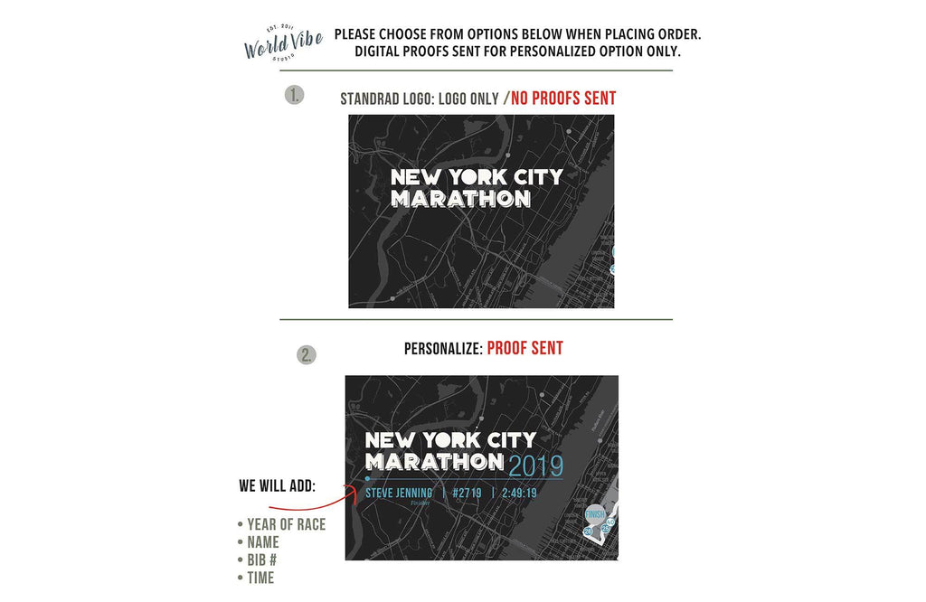New York Marathon Map Canvas, Many Sizes Map World Vibe Studio
