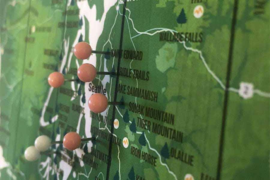 Vermont State Park Map, Push Pin Travel Board