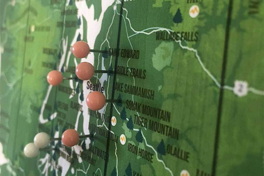 Colorado State Park, Poster and Foam Mount Map World Vibe Studio