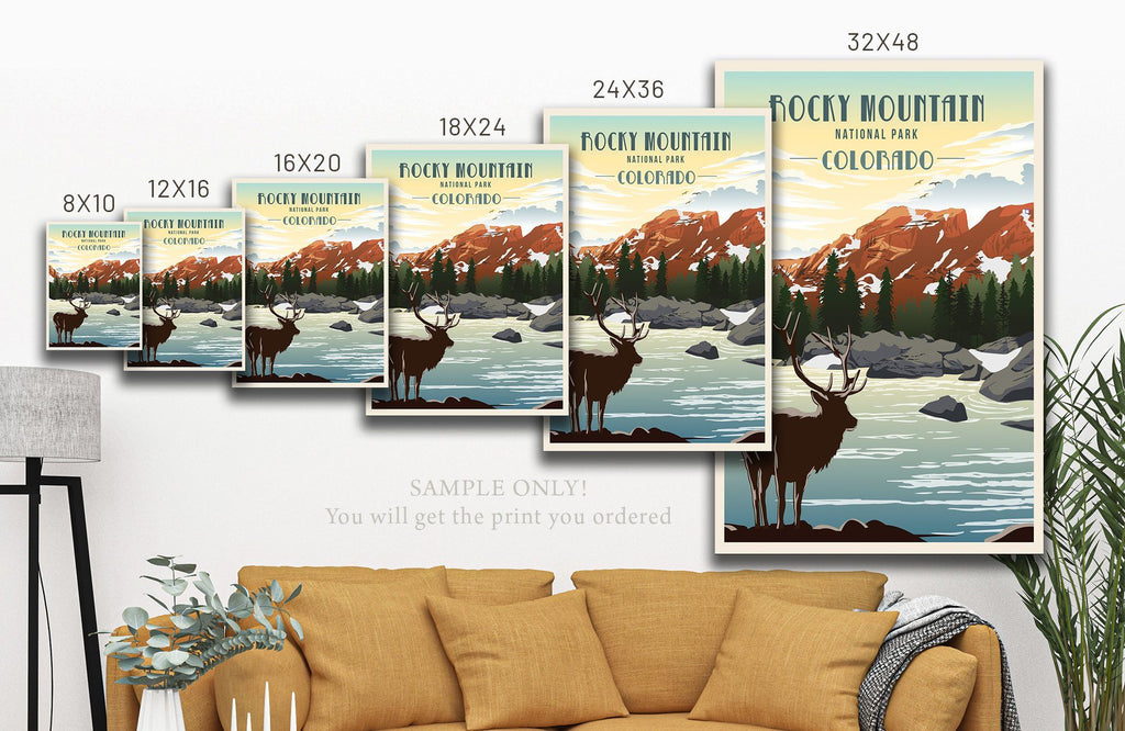 Capitol Reef National Park, Utah, National Park Poster, Unframed Map World Vibe Studio