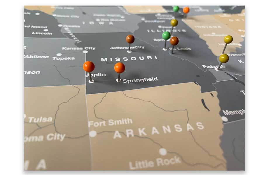 Rustic Map of USA, Trip tracker, Interactive Map