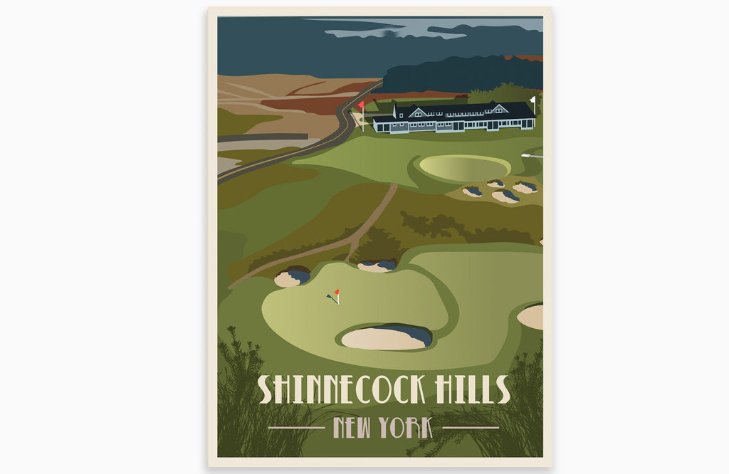 Shinnecock Hills Golf Club Poster, New York Golf Club, Unframed Map World Vibe Studio