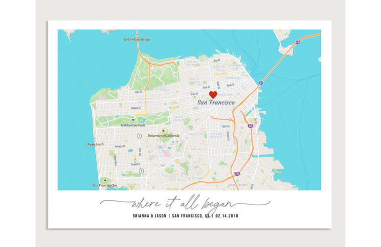 Personalized Story Map Gift - Valentine's Day Gift, Custom Map Print, Framed Option Map World Vibe Studio
