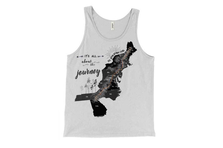Tank Top, T-shirt of Appalachian Trail Map World Vibe Studio