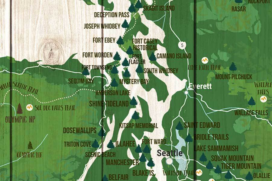Washington State Park Map, Wall Art on map of washington state, map of richmond state, map of murray state, map of jackson state, map of idaho state, map of wright state, map of plymouth state, map of ball state, map of weber state, map of wayne state, map of chattanooga state,