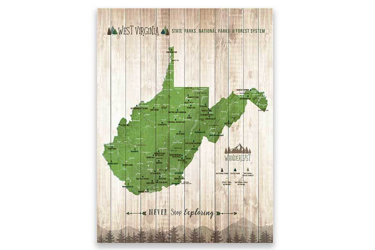 West Virginia State park Map Map World Vibe Studio