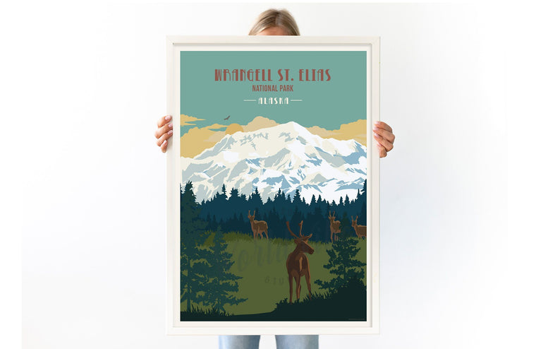 Wrangell St. Elias National Park, Alaska, National Park Poster, Unframed Map World Vibe Studio