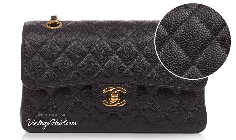 authentic-chanel-caviar-leather-255-bag