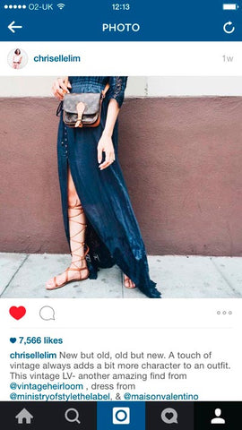 Chriselle lim vintage heirloom instagram