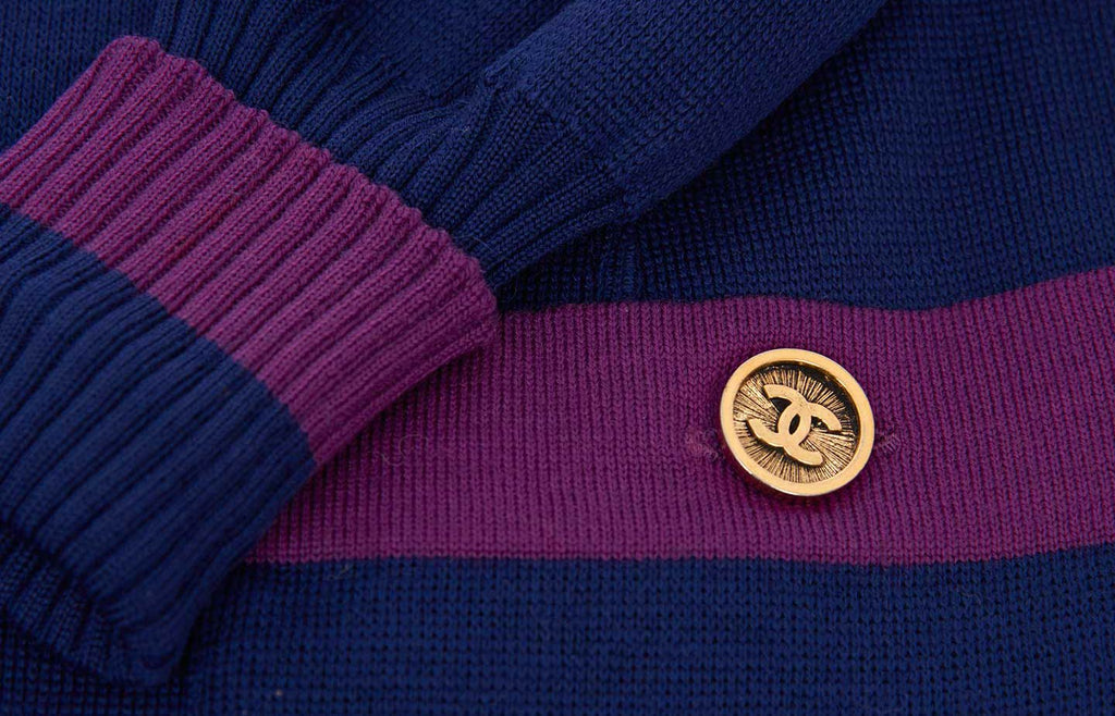 vintage-chanel-bi-colour-2-pc-dress-close-up-detail