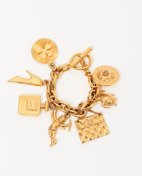 vintage-chanel-gold-icon-charm-bracelet-front