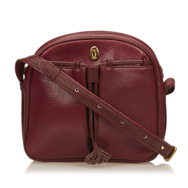 Cartier Leather Tasseled Must de Cartier Shoulder Bag