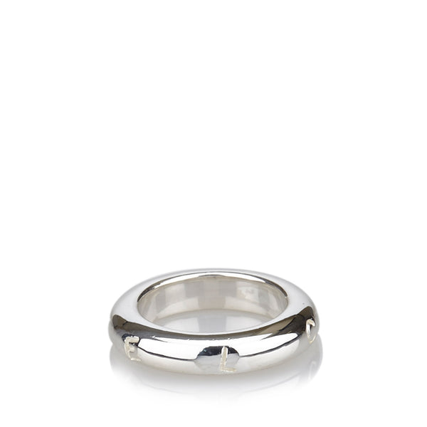 Chanel Sterling Silver Band Ring