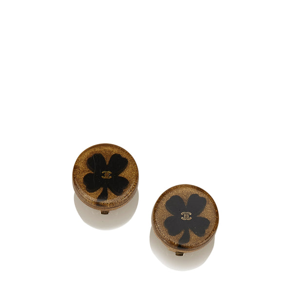 Chanel Four Leaf Clover Clip-On Earrings