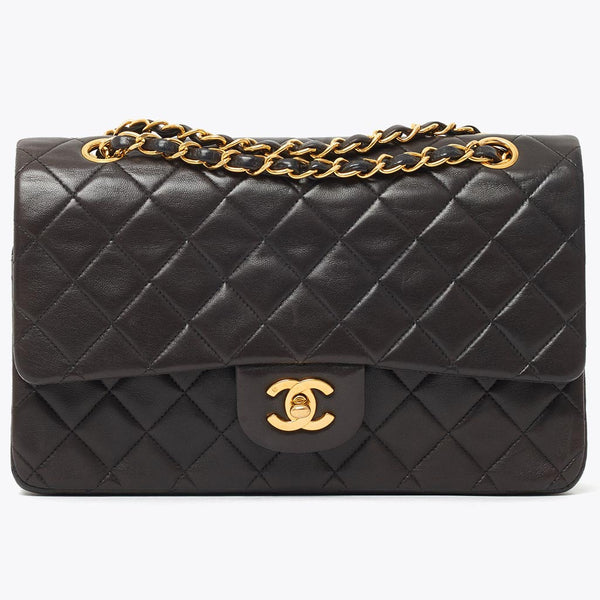 "Vintage Chanel 10"" medium classic flap bag"