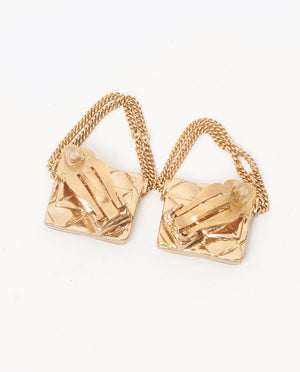 Vintage Chanel 2.55 classic flap earrings