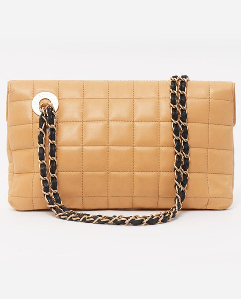 Vintage Chanel 2.55 lock beige black shoulder bag