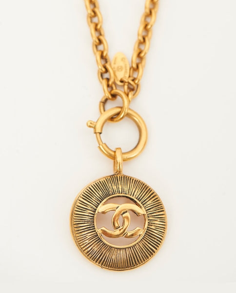 Vintage Chanel CC pendant necklace