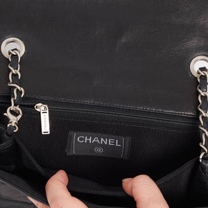 Vintage Chanel chocolate bar satchel style cross body bag
