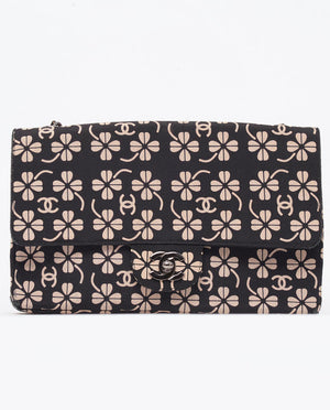 Vintage Chanel clover print cross body classic flap bag