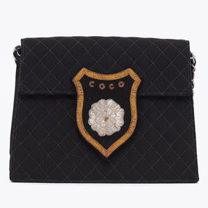 Vintage Chanel Coco badge cross body bag