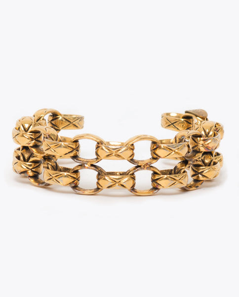 Vintage Chanel double quilted link bangle