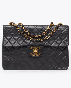 Vintage Chanel jumbo XL classic flap bag
