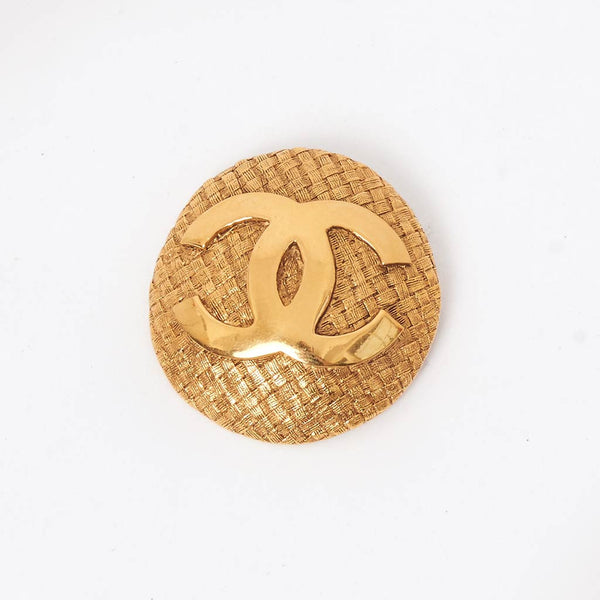 Vintage Chanel large CC brooch