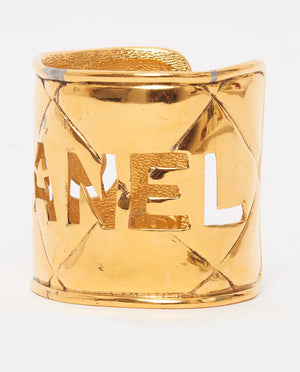 Vintage Chanel large gold cuff