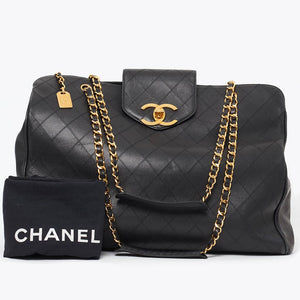 Vintage Chanel large weekend shoulder tote