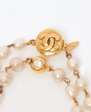 Vintage Chanel long pearl necklace