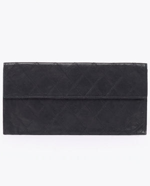 Vintage Chanel qulited lambskin clutch