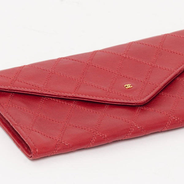 Vintage Chanel red envelope style wallet