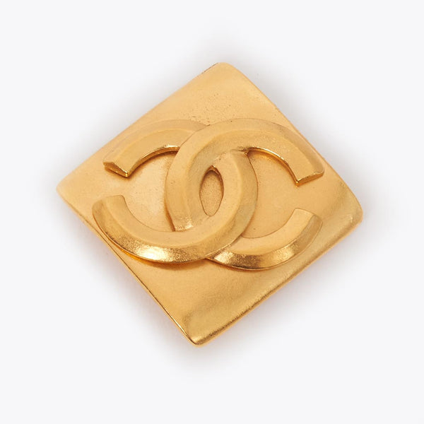 Vintage Chanel square CC brooch
