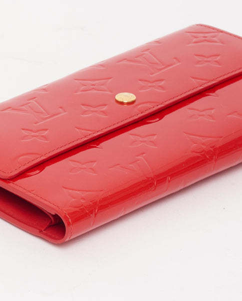 Vintage Louis Vuitton international red vernis wallet