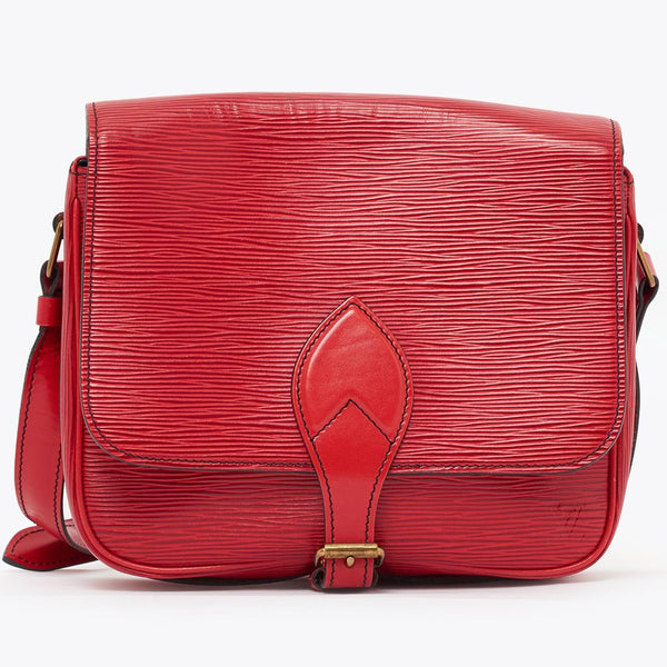 Vintage Louis Vuitton red Epi leather Cartouchiere shoulder bag