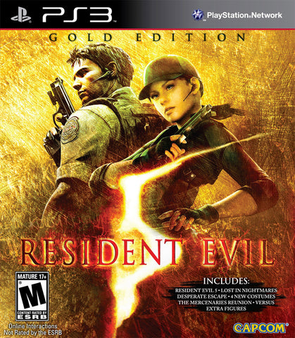 Resident Evil® 5 Gold Edition PS3| 7.4 GB | Juego Completo|