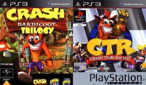 Crash bandicot 1,2,3 y team reacing | PS3 | 1.1 GB | PAQUETE |