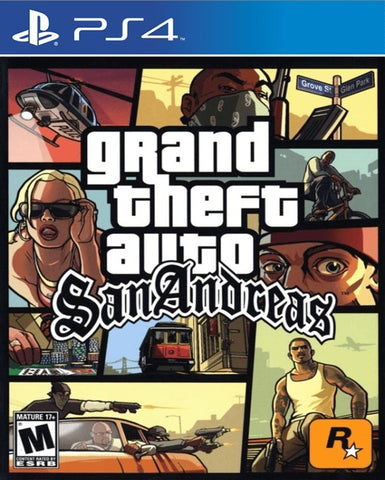 GRAND THEFT AUTO SAN ANDREAS | PS4 | PRINCIPAL | 3.22 GB | JUEGO COMPLETO
