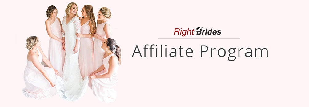 RightBrides affiliate program for bridesmaid dresses and wedding dresses