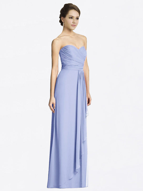 Long A-Line Sweetheart Sleeveless Lavender Chiffon Bridesmaid Dress Jacqueline