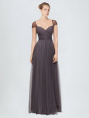 Long A-Line Sweetheart Tulle Bridesmaid Dress Alena