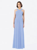 Long A-Line Off The Shoulder Sweetheart Sleeveless Lavender Chiffon Bridesmaid Dress Claire