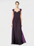 RightBrides Naomi Bridesmaid Dress, Grape A-Line Sweetheart Floor Length Long Chiffon, Lace Sleeveless Bridesmaid Dress