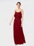 Long Sheath ScoopSleeveless Burgundy Chiffon Bridesmaid Dress Vivian