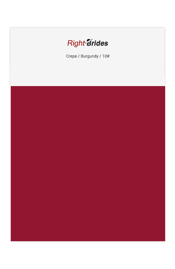 Burgundy Color Swatches for Crepe Bridesmaid Dresses