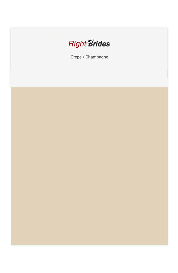 Champagne Color Swatches for Crepe Bridesmaid Dresses