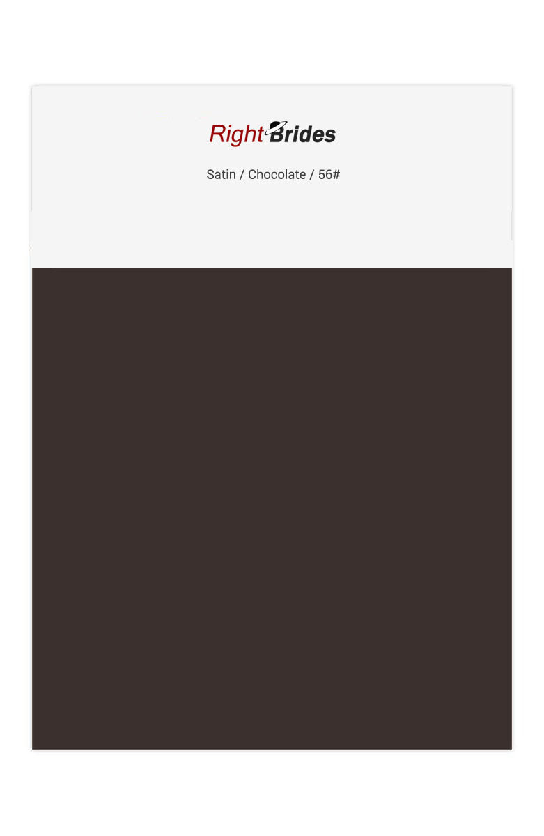 Chocolate Color Swatches for Satin Bridesmaid Dresses