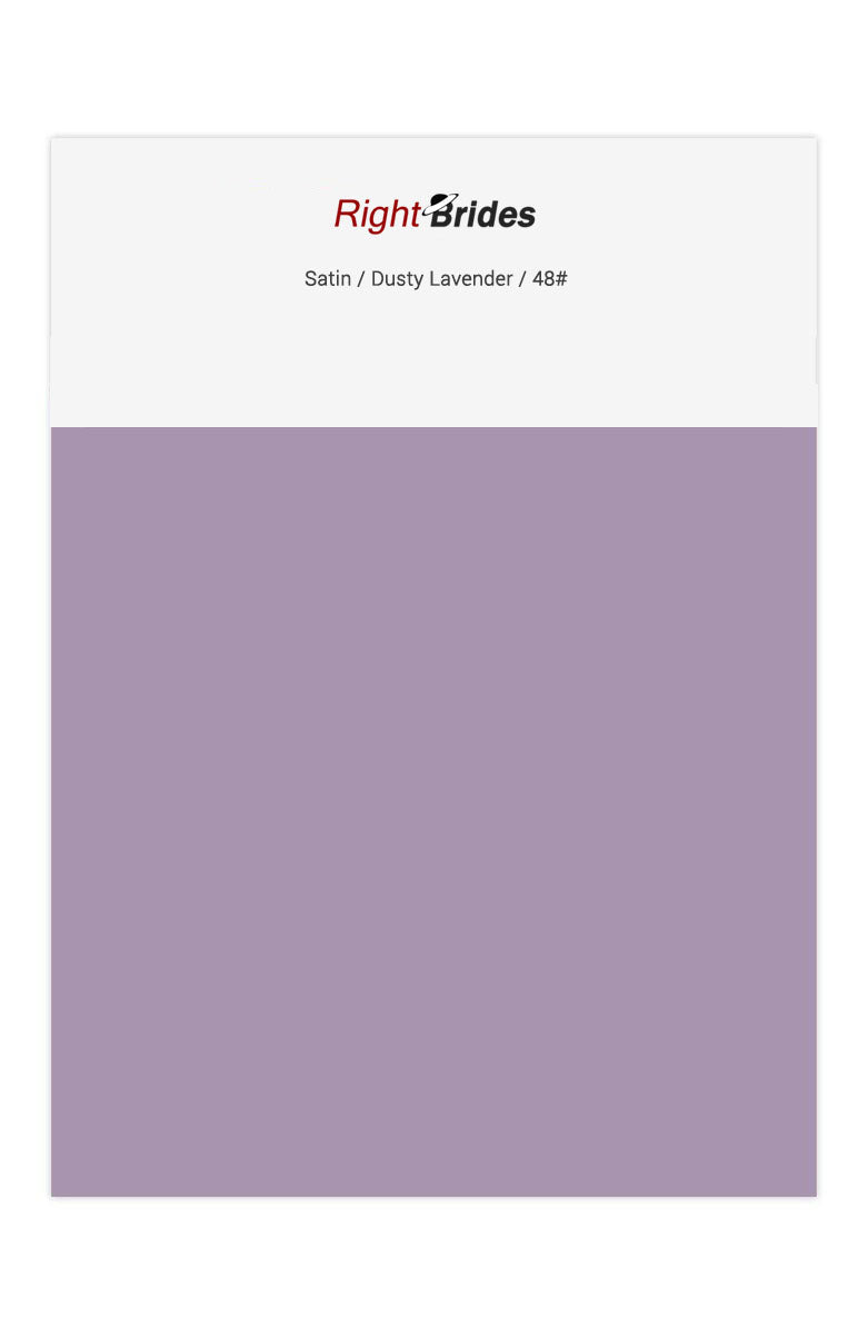 Dusty Lavender Color Swatches for Satin Bridesmaid Dresses